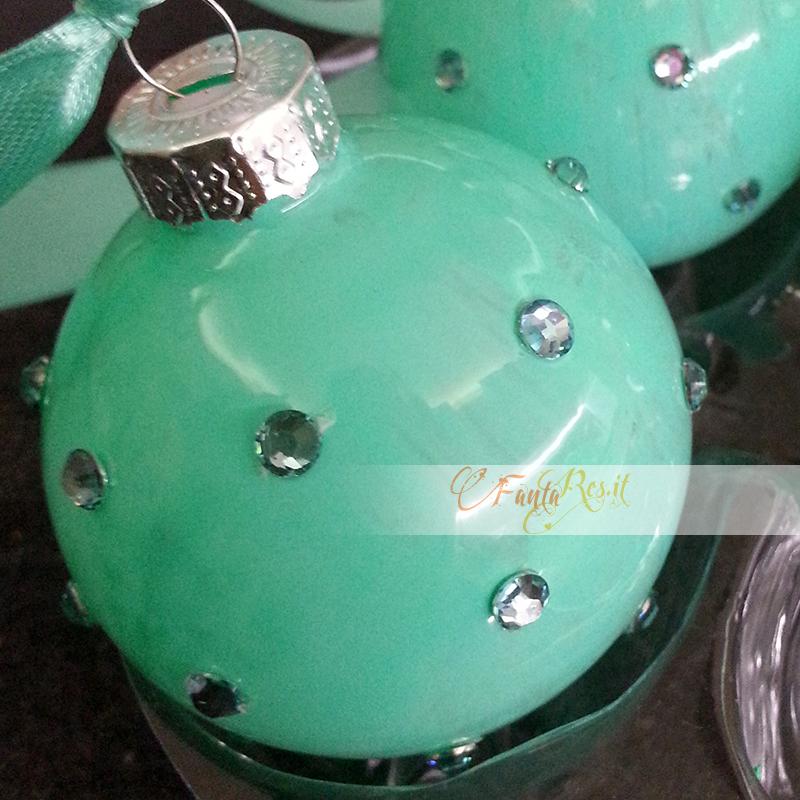 Palline di natale verde tiffany
